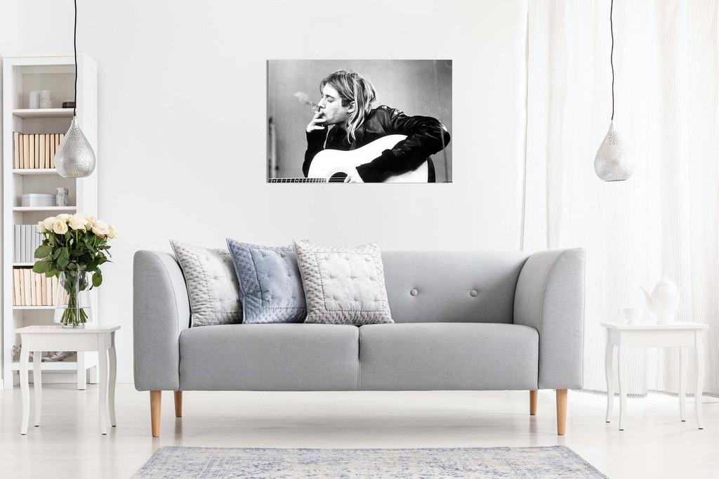 Kurt Cobain Nirvana Smoking Canvas