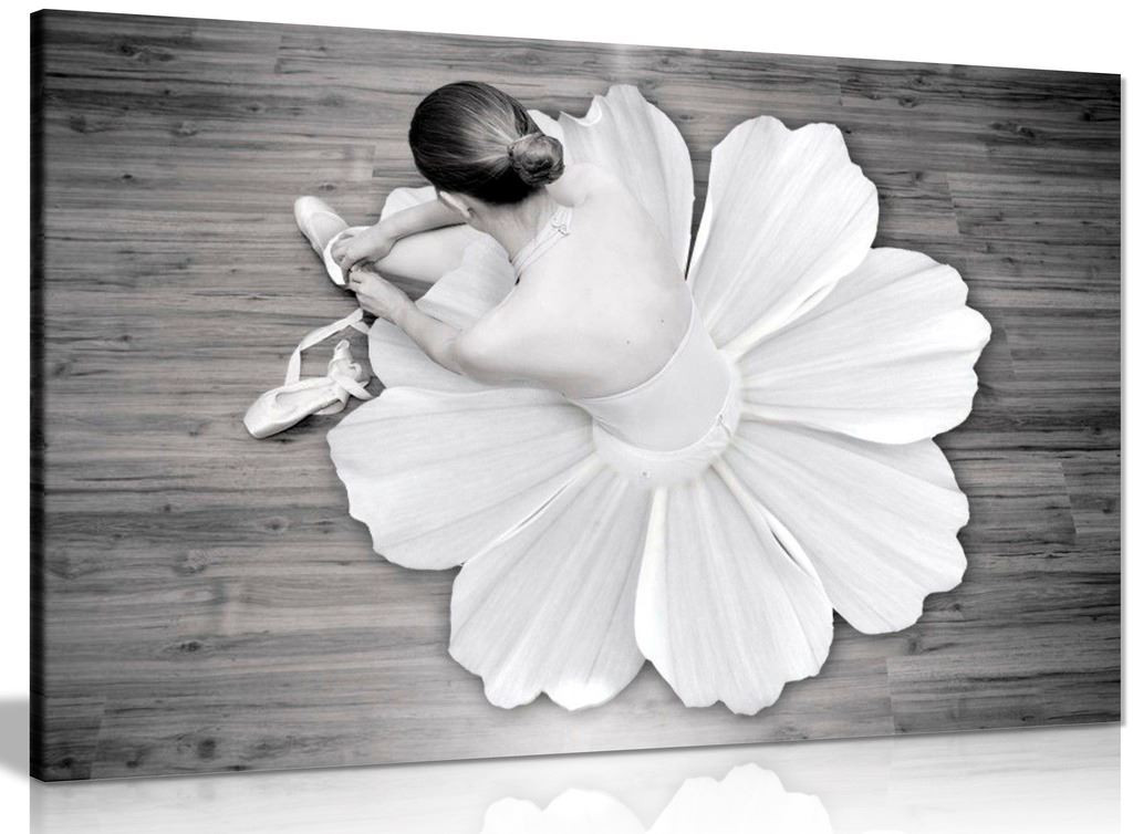 Black & White Wall Art Ballerina Dancer Canvas