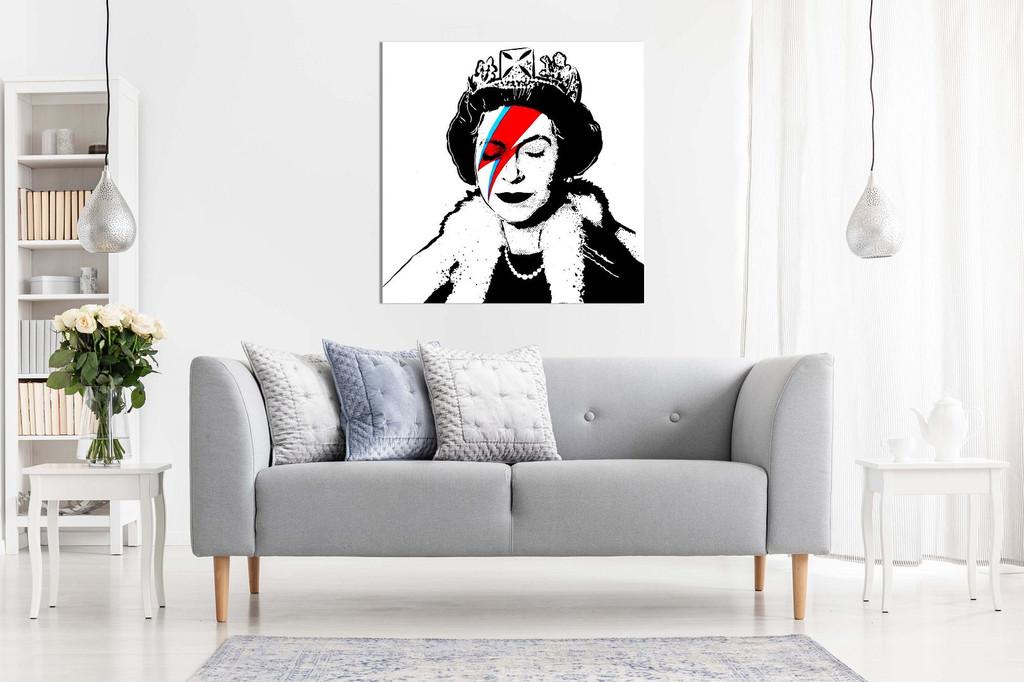 Ziggy Stardust Queen Of England Canvas