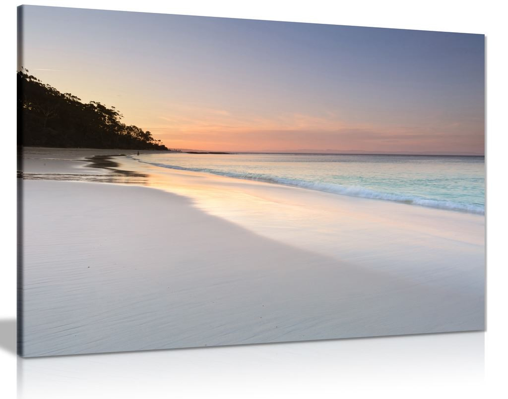 Pretty Soft Colours Beach Sky And Sand Seaside  Canvas