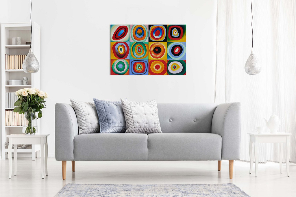 Farbstudie Quadrate By Wassily Kandinsky Canvas