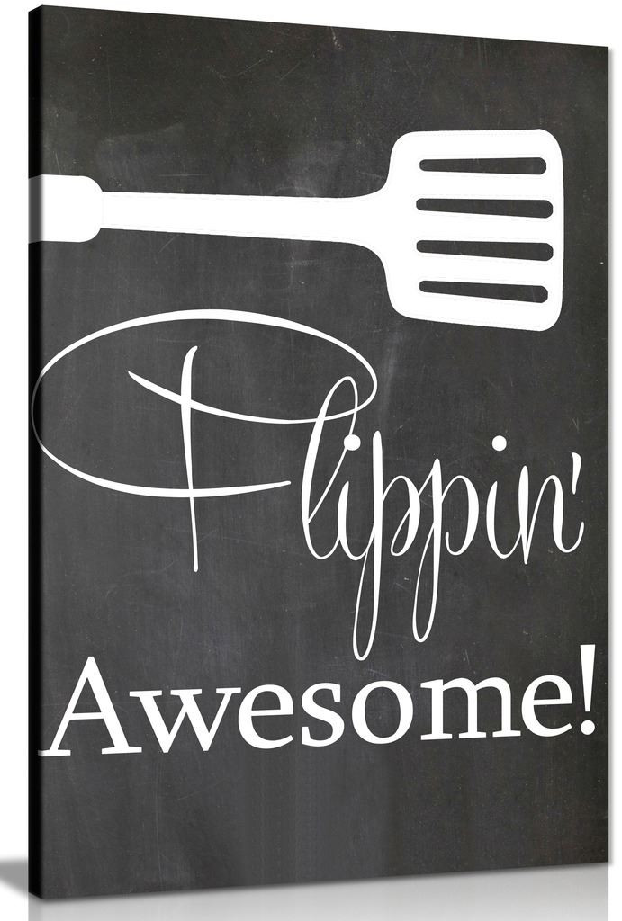 Kitchen Wall Art Flipping Awesome Canvas Picture Print