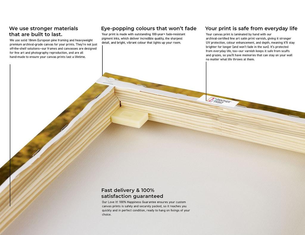 Yellow Gold Geometric Pattern Abstract Modern Canvas
