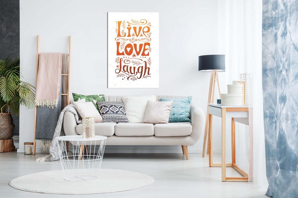 Live Love Laugh Home Decor Canvas