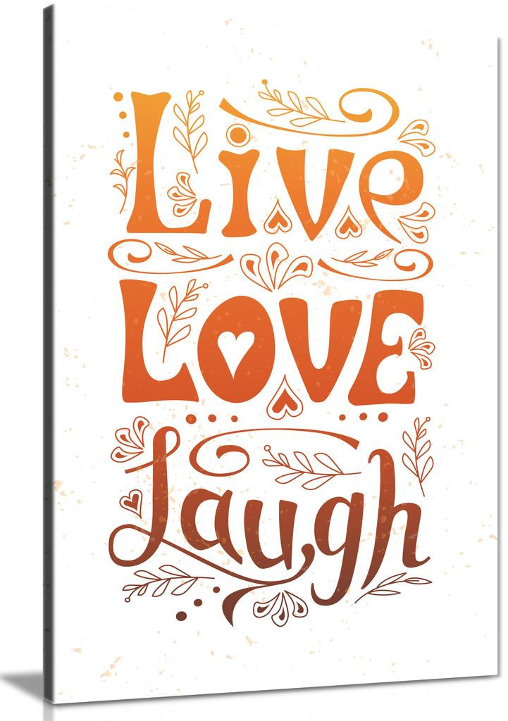 Live Love Laugh Home Decor Canvas