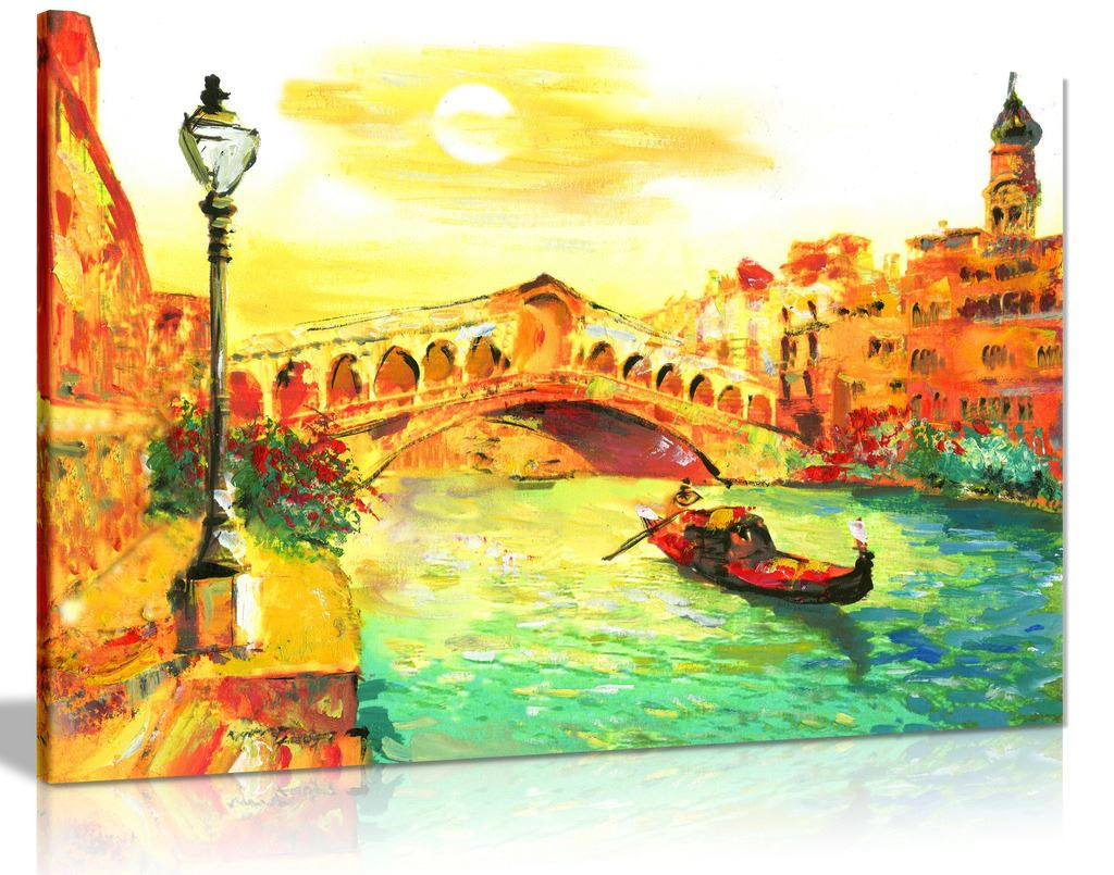Orange Venice Painting Canvas