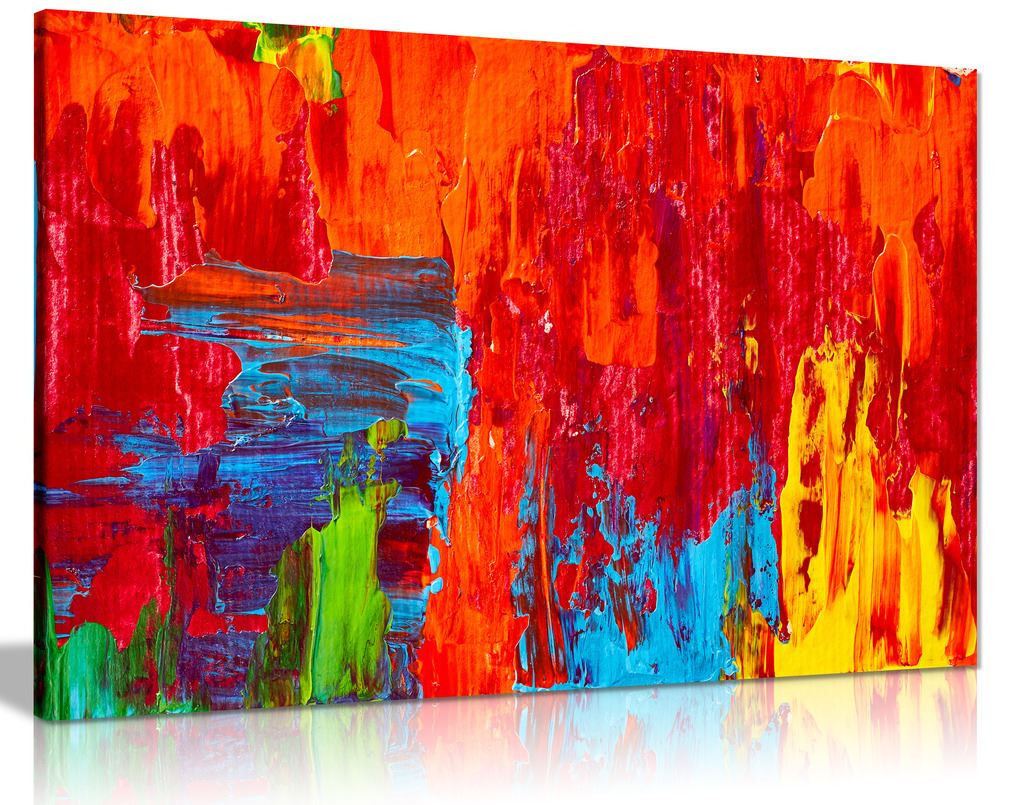 Abstract Contemporary Red Oil Printing Canvas