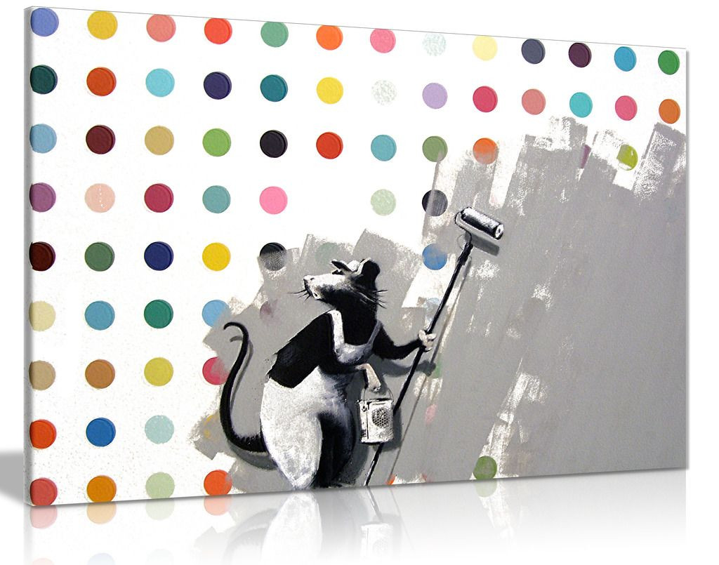 Banksy Does Damien Hirst Canvas
