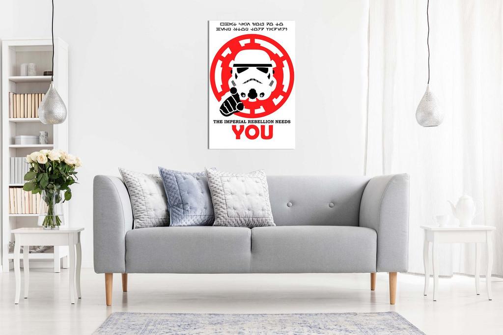 Star Wars Pop Art Rebellion Needs You Canvas