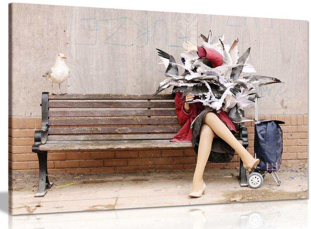 Seagulls Attack Banksy Dismaland Canvas