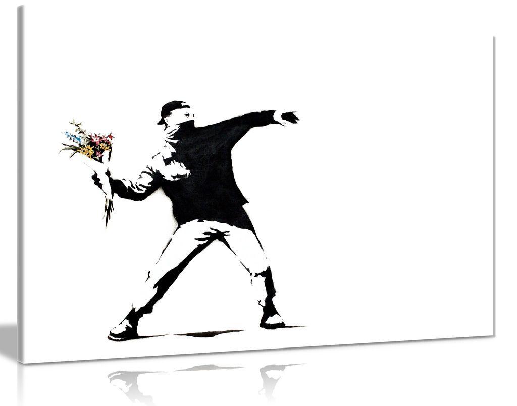 Banksy Flower Thrower Canvas