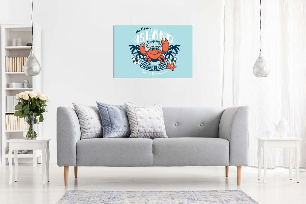 Kids Childrens Nursery Bedroom Crab Cartoon Canvas
