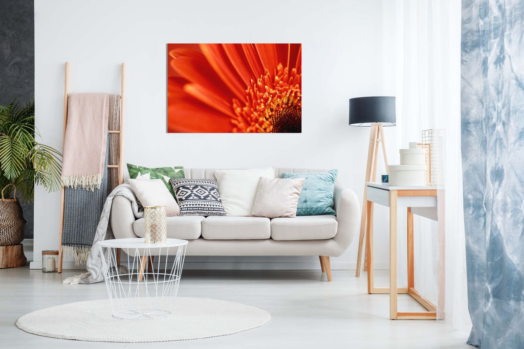 Orange Flower Floral Canvas