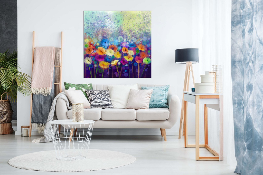 Abstract Floral Flower Watercolor Nature Painting Canvas