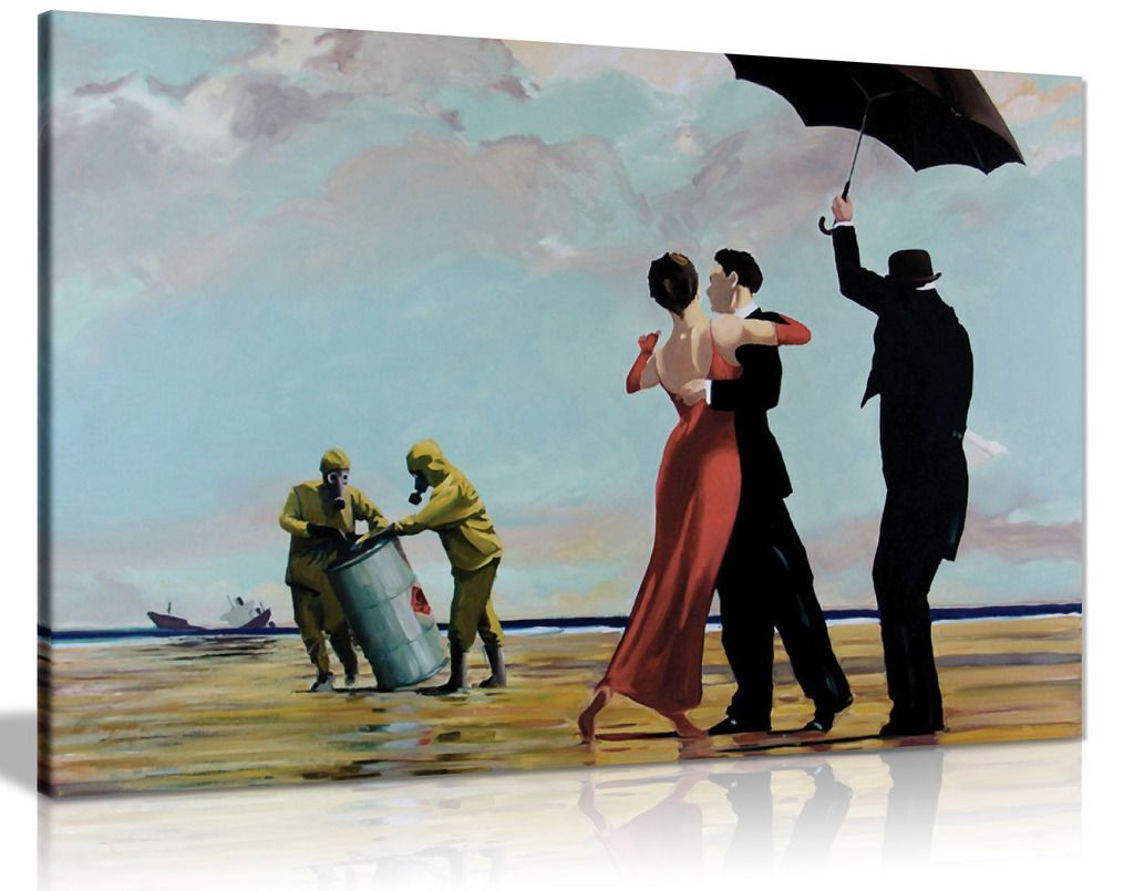 Banksy Toxic Beach Canvas