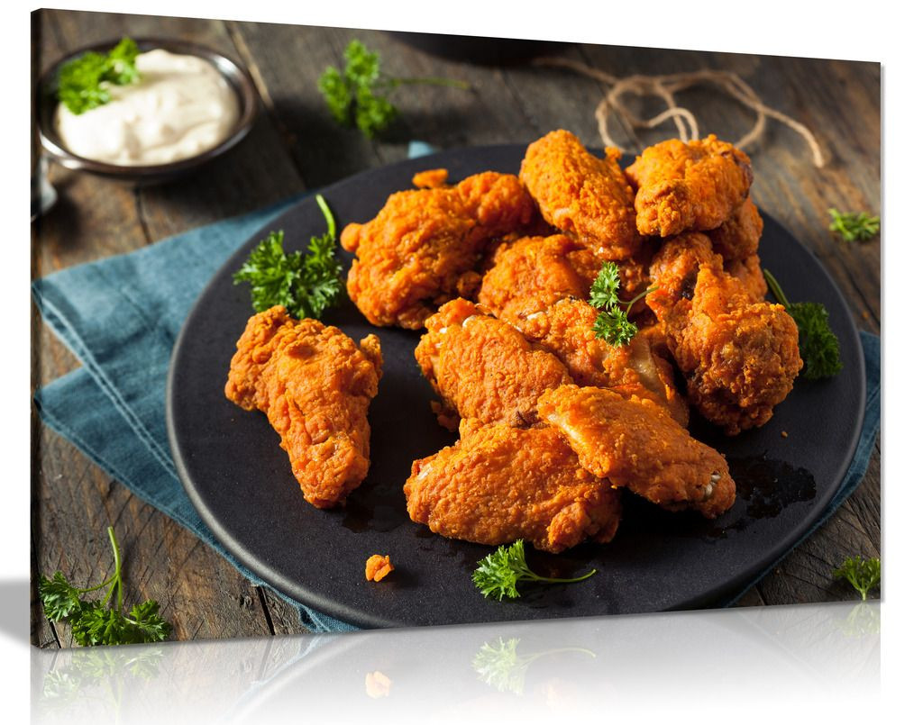 Fried Chicken Wings Chicken Shop Restaurant Food Canvas