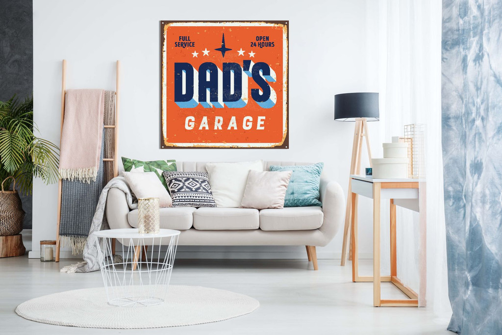 Dad'S Garage Man Cave Canvas