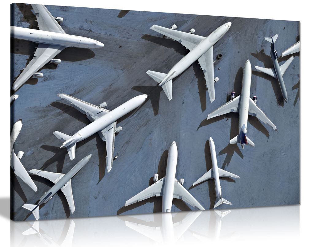Airplanes Aerial View Canvas