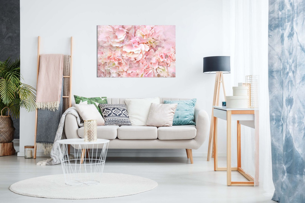 Pastel Pink Flowers Floral Canvas