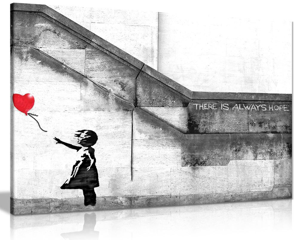 Banksy Balloon Girl Graffiti Canvas
