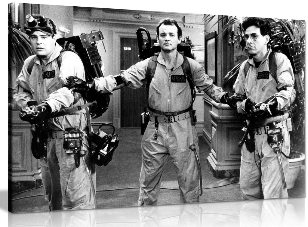 Black & White Ghost Busters Film Canvas