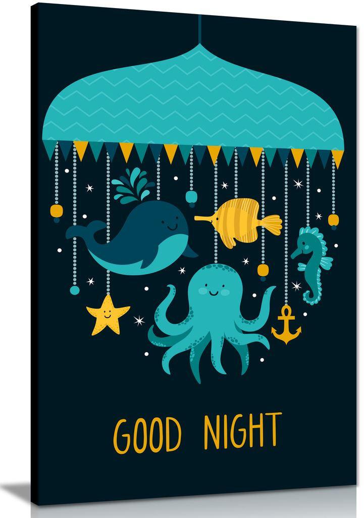 Cartoon animals goodnight