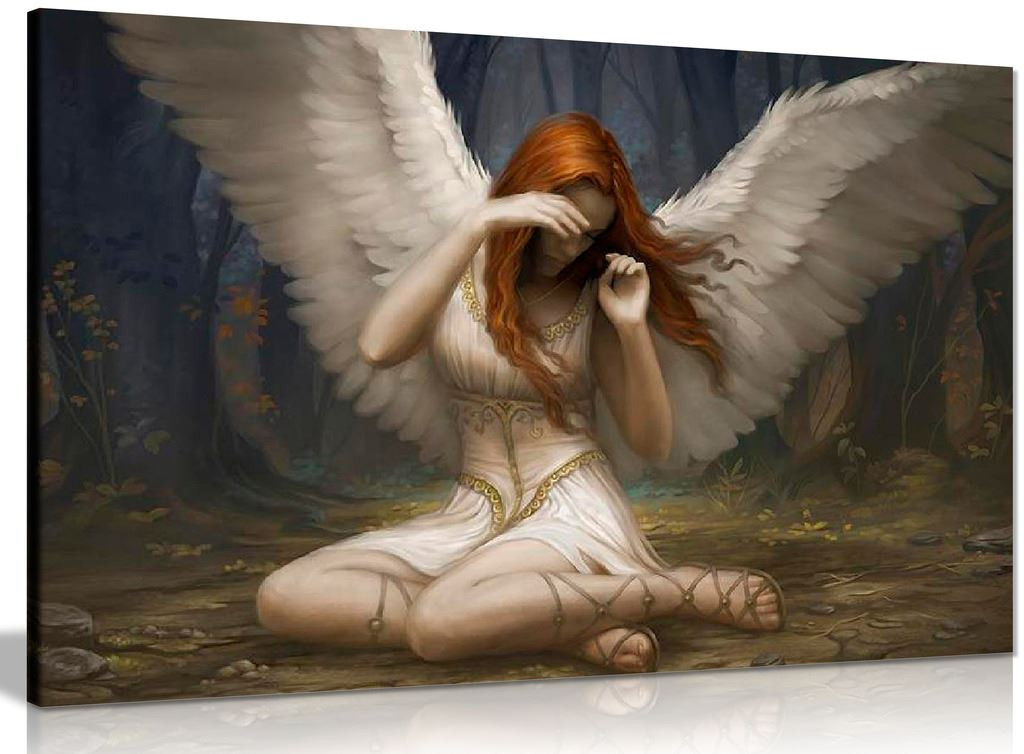 Angel Weeping Fantasy Canvas