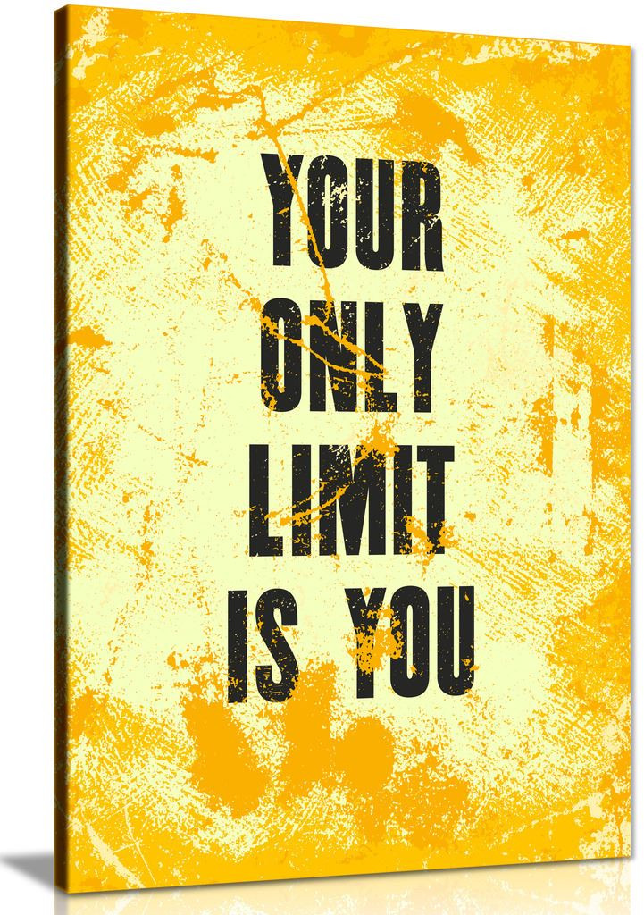 Inspiring Motivation Quote Your Only Limit Is You Canvas