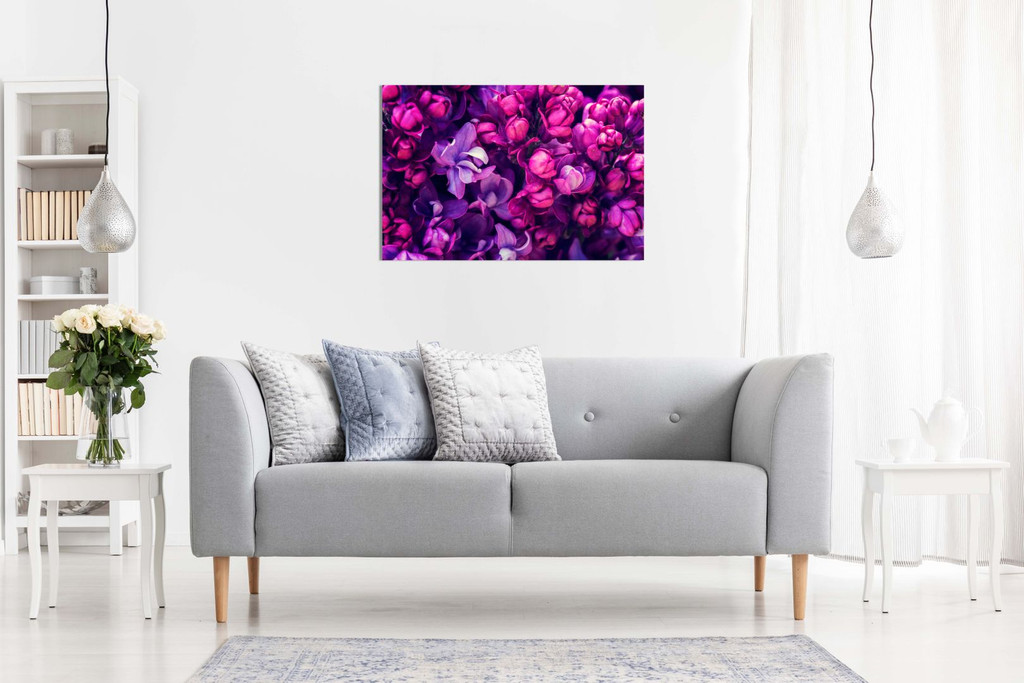 Purple Lilac Flowers For Home Canvas