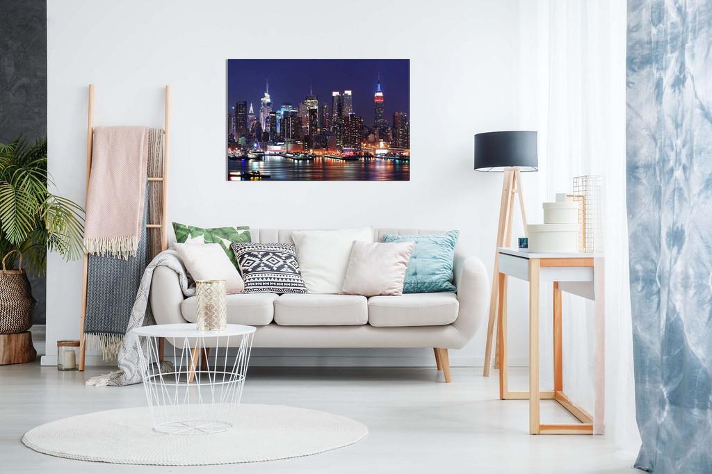 Manhattan Skyline Night Canvas