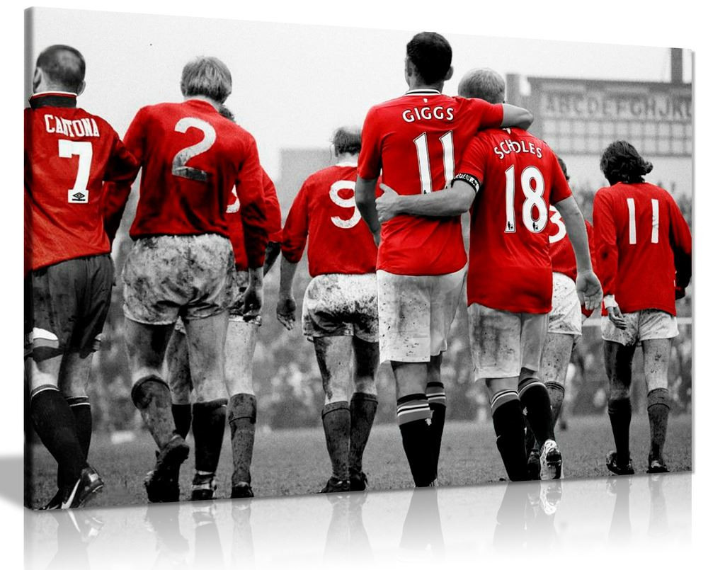 Manchester United Legends Football Canvas