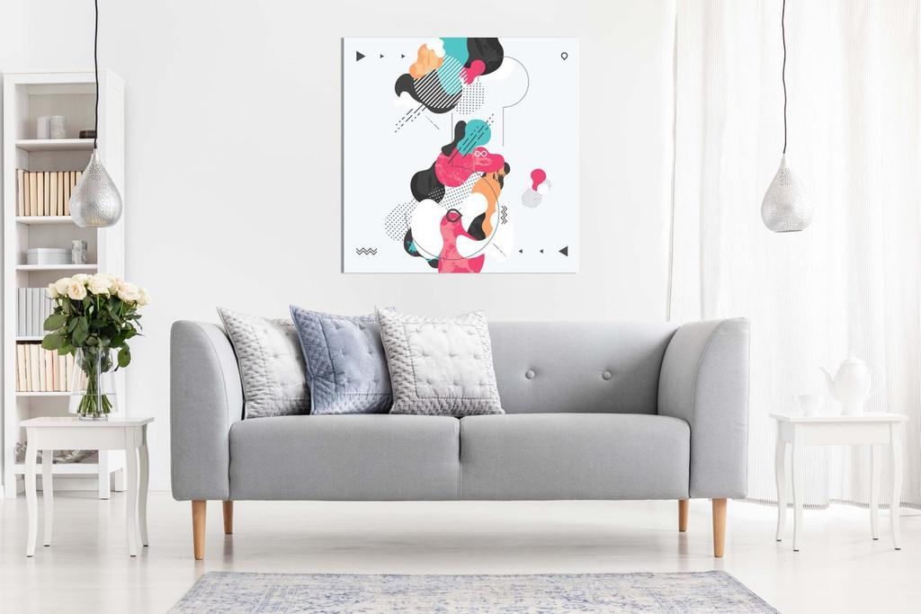 Abstract Modern Geometric Art Canvas