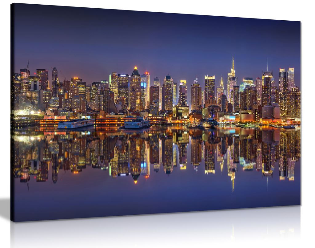 Manhattan Night Lights Canvas
