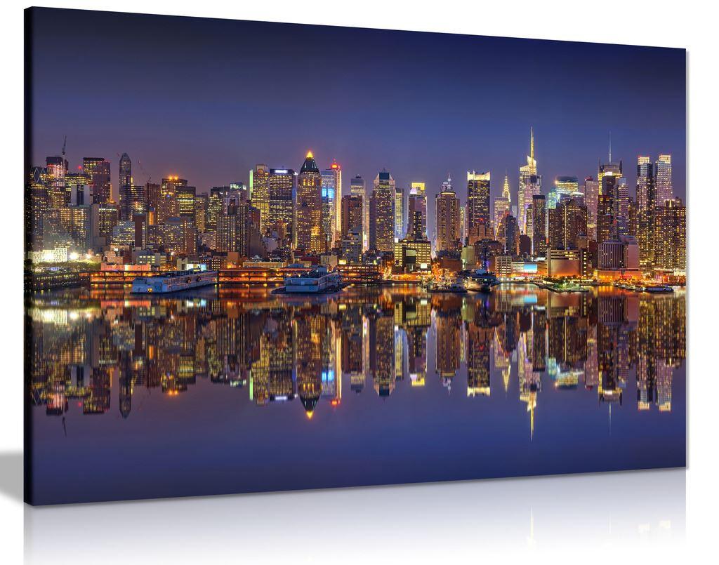 Manhattan Night Lights Canvas