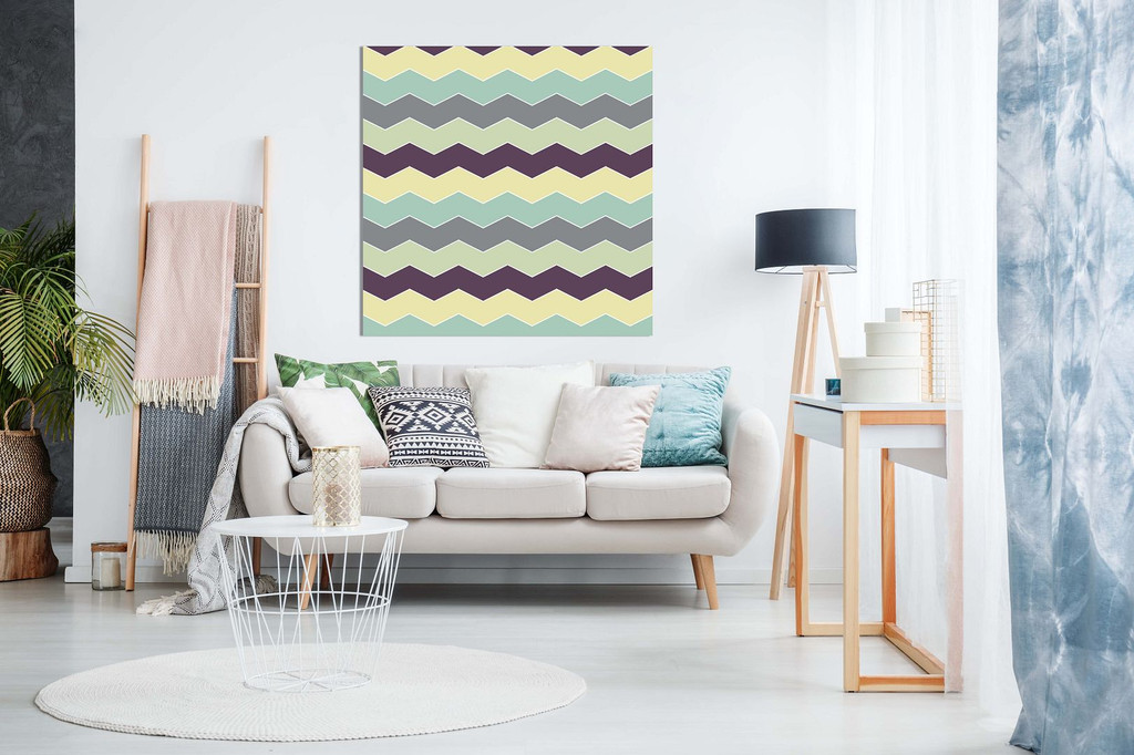 Abstract Retro Geometric Zigzags Canvas Prints For Sale