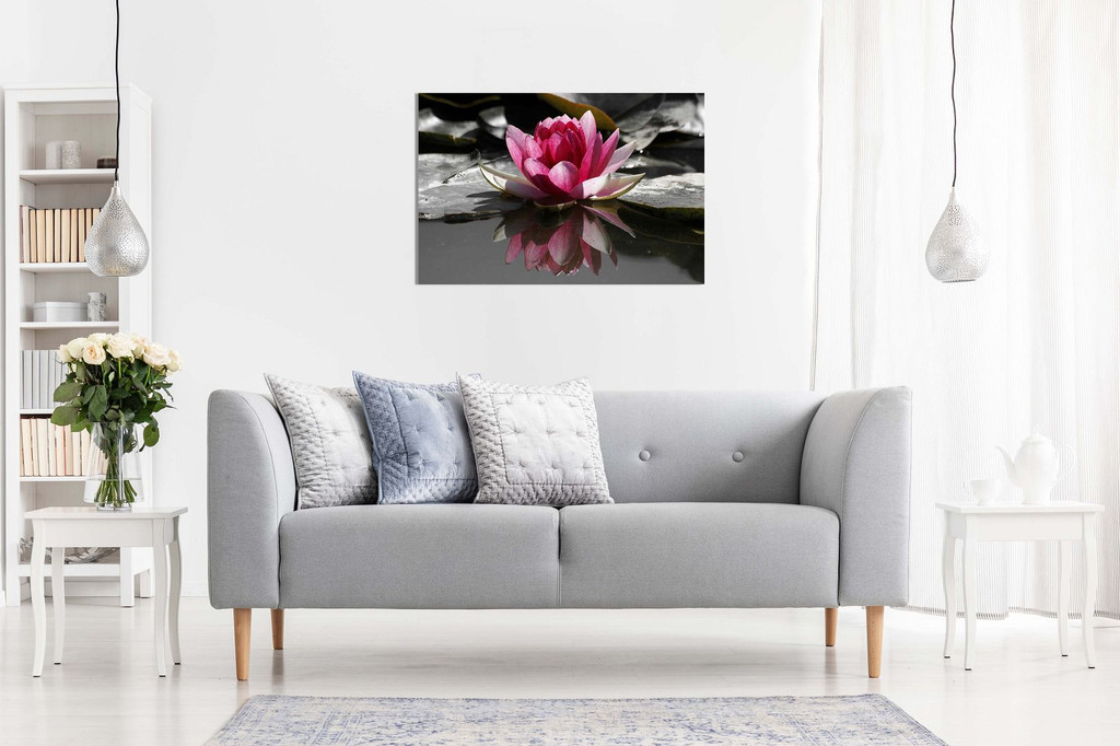 Water Lilly Floral Canvas