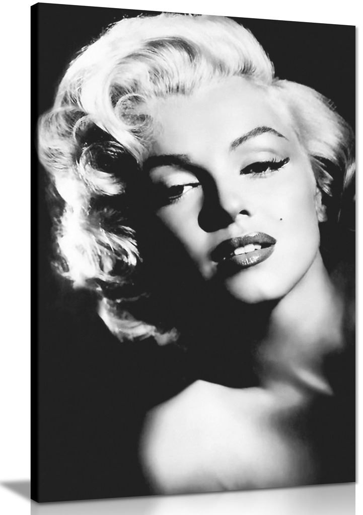 Marilyn Monroe Print Black And White Canvas