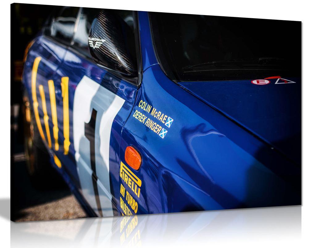 Subaru Impreza Wrc Blue Canvas Wall Art Picture Print