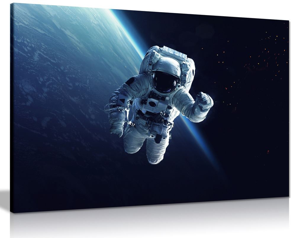 Spacewalk Astronaut Cosmic Canvas Wall Art Picture Print