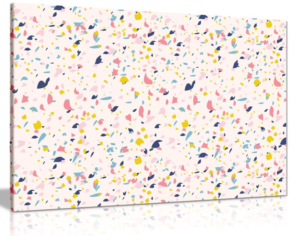 Pink Terrazzo Marble Pattern Fashion Canvas Wall Art Picture Print
