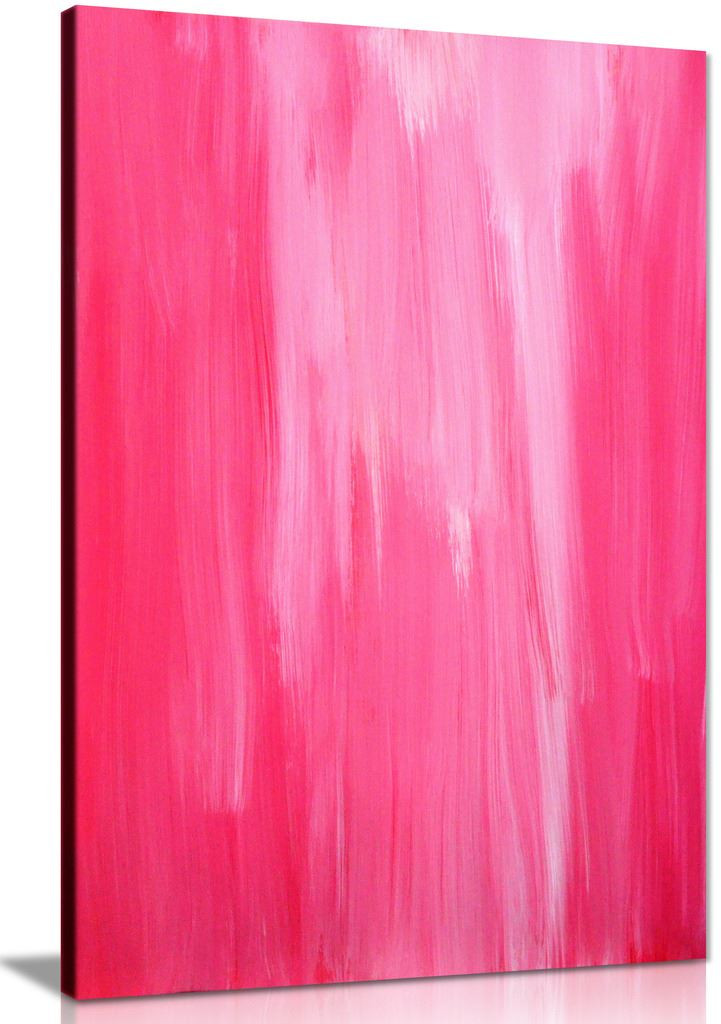 Pink Abstract Canvas Wall Art Picture Print