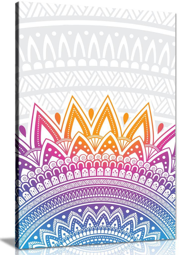 Mandala Spiritual Pattern Canvas Wall Art Picture Print