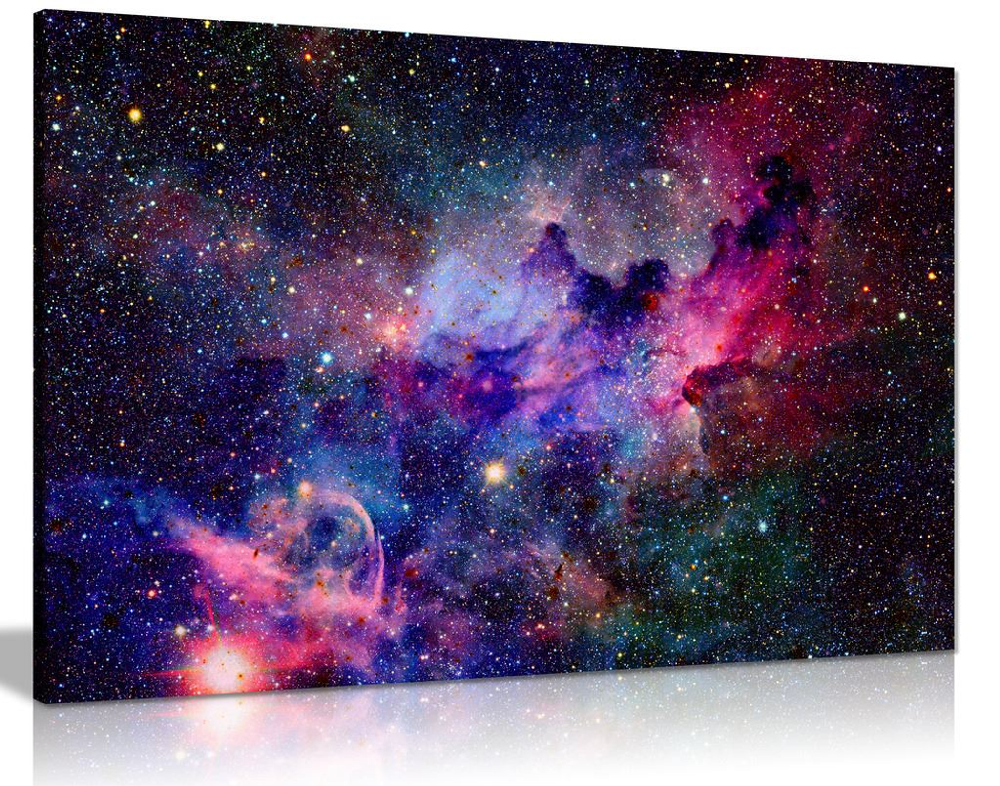 Galaxy Stars Cosmic Space Canvas Wall Art Picture Print