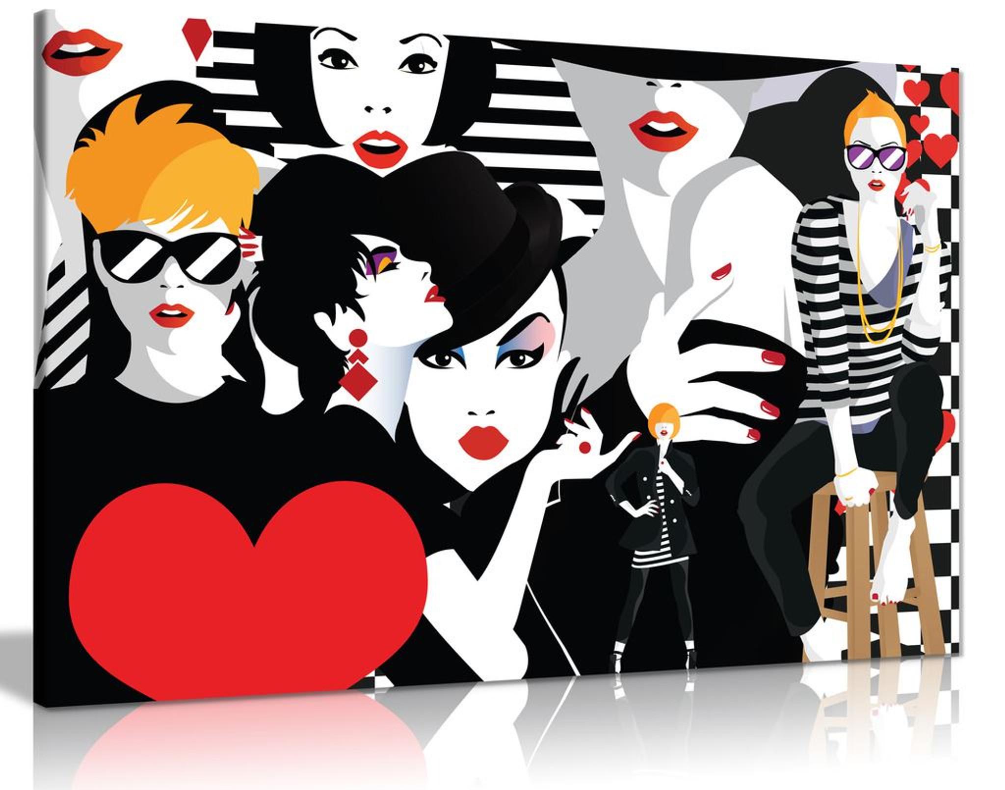 Fashion Pop Art Canvas Wall Art Picture Print