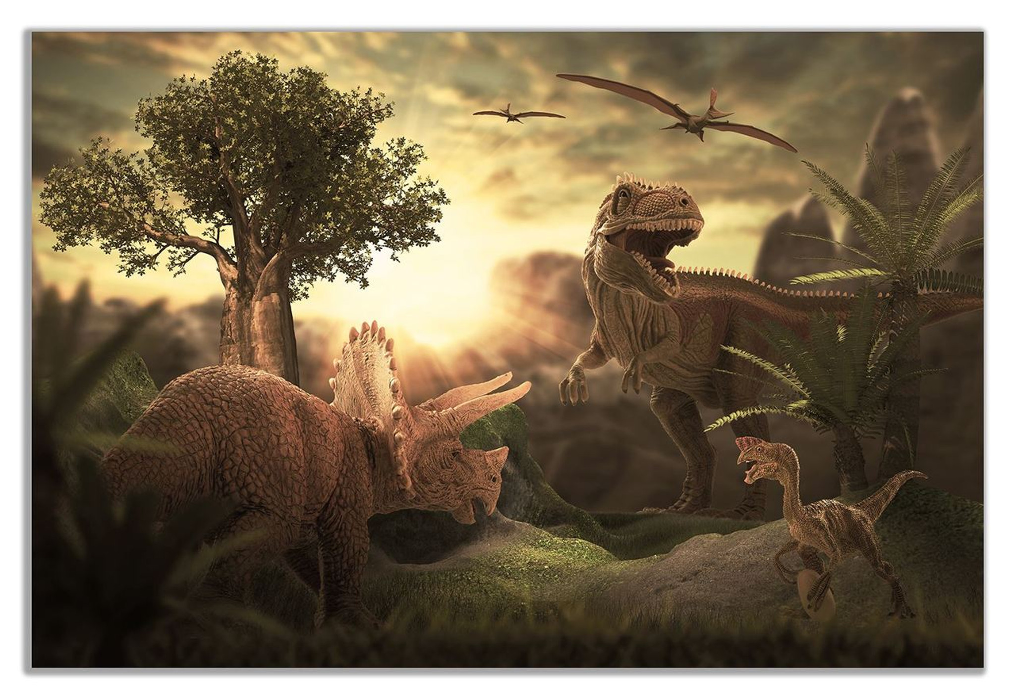 Dinosaur T Rex Canvas Wall Art Picture Print
