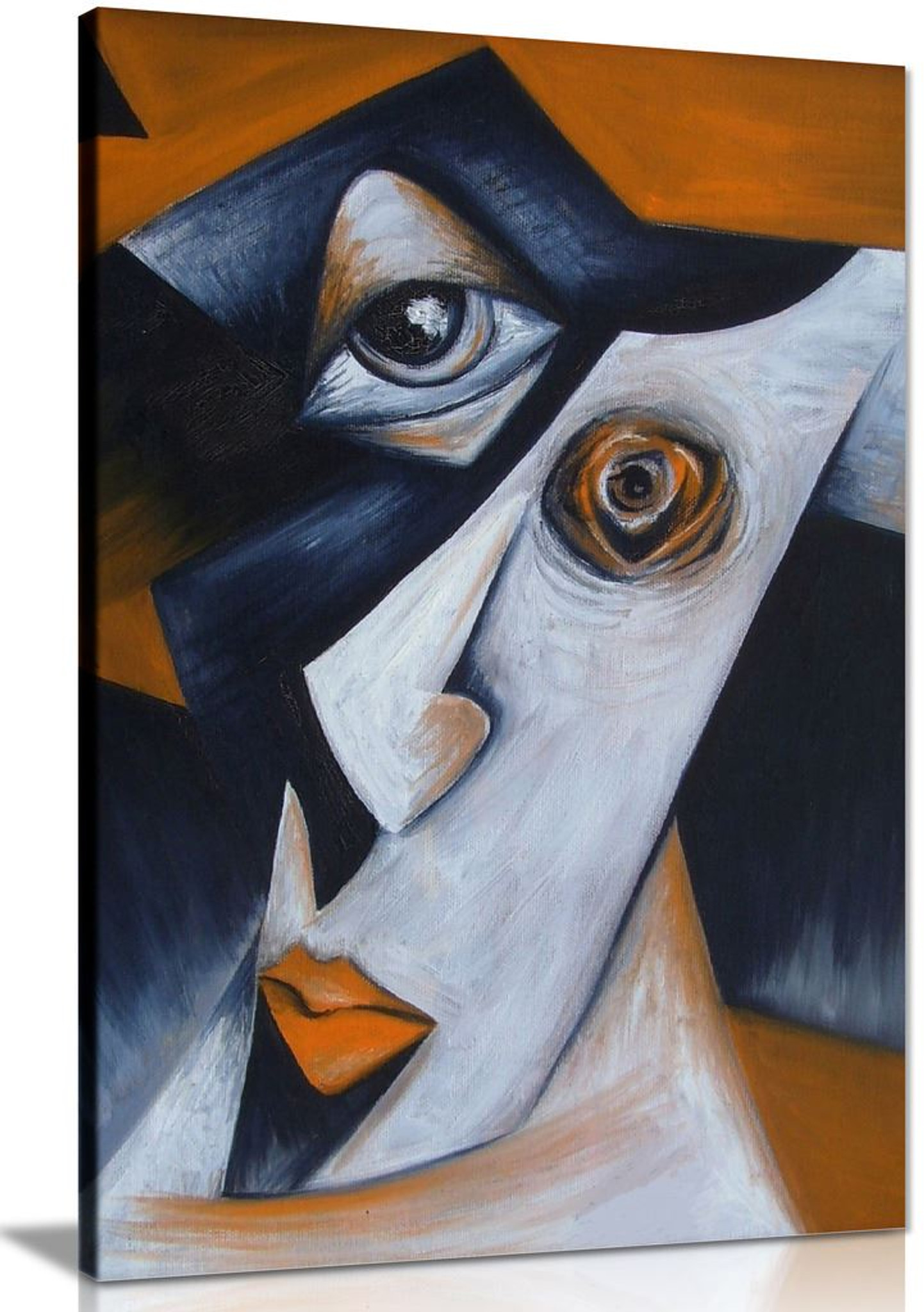 Cubism Harlequin Modern Canvas Wall Art Picture Print