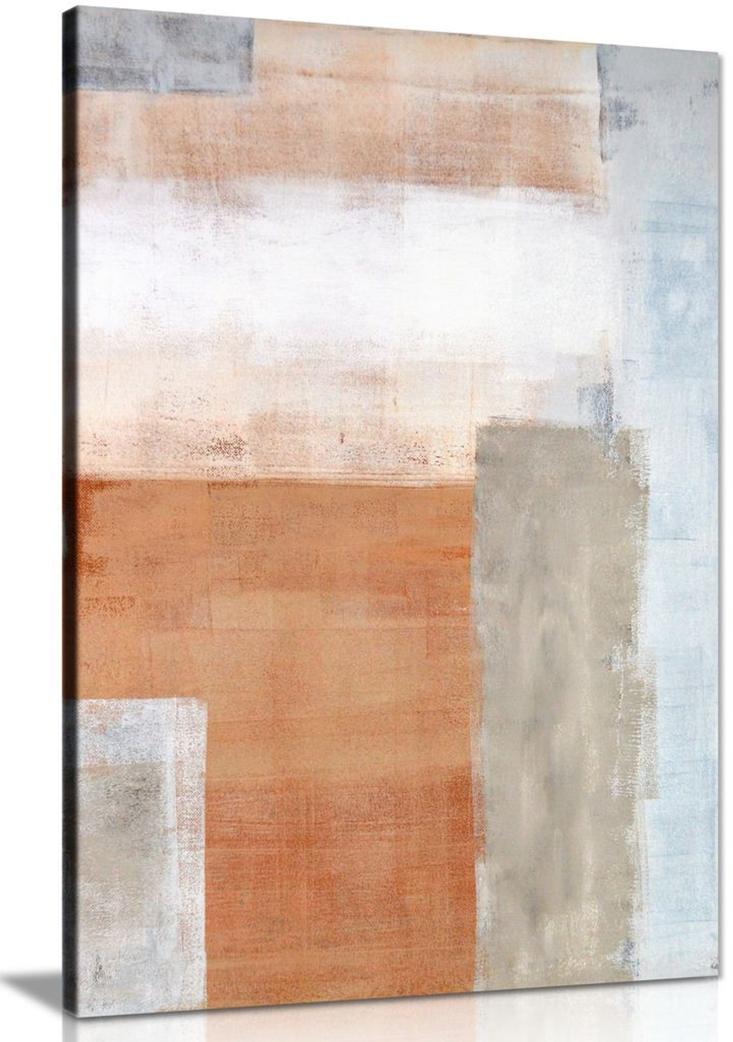 Brown Grey Abstract Art Painting Canvas Wall Art Picture Print