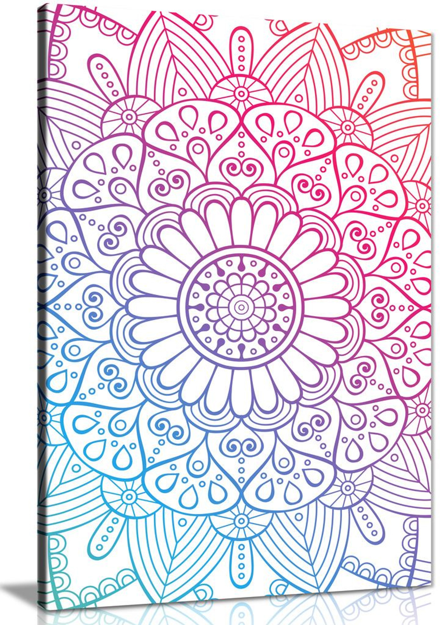 Abstract Mandala Spiritual Canvas Wall Art Picture Print