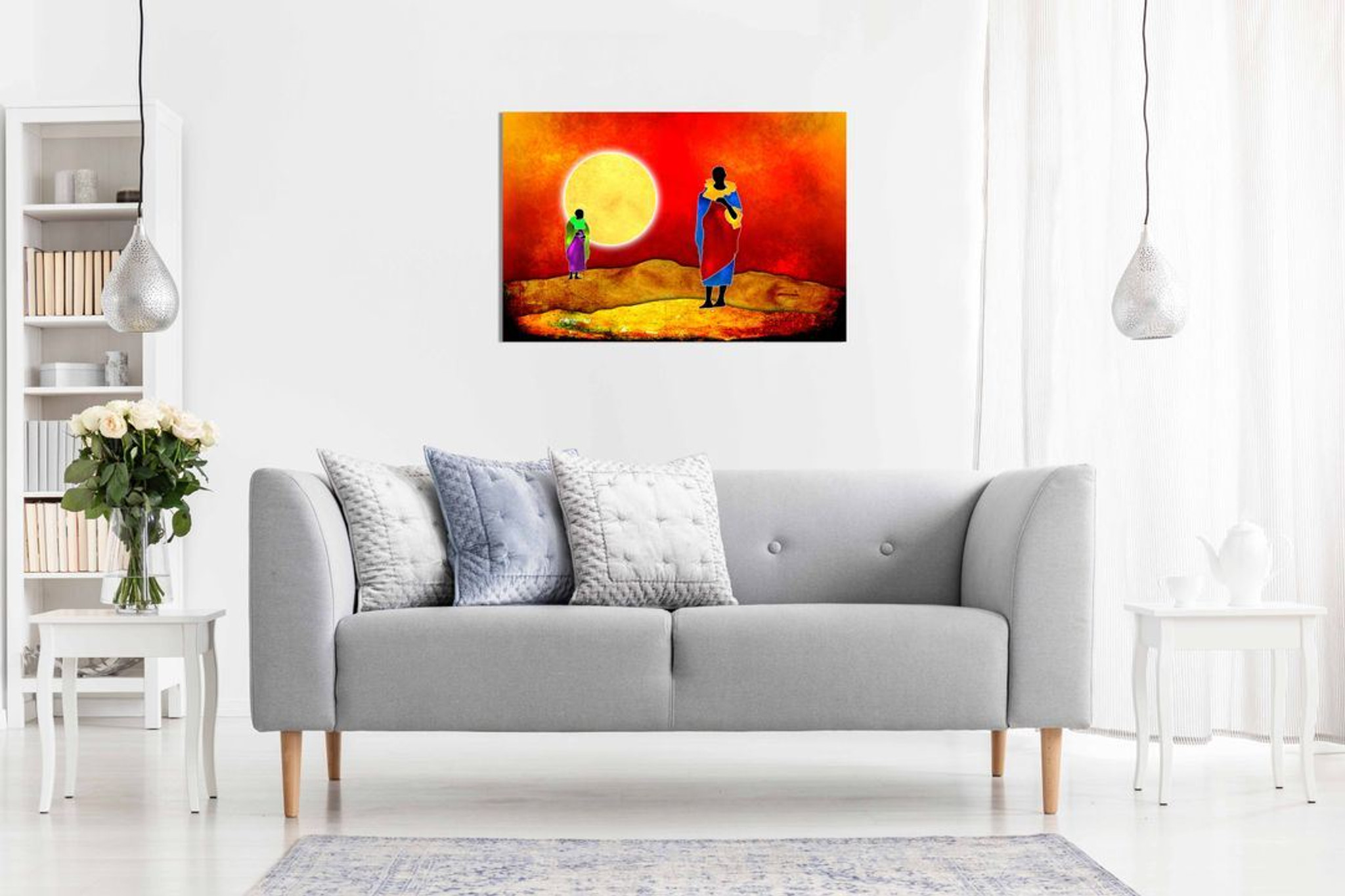 African Modern Art Culture Tribe Dance Kenya Canvas Wall Art Picture Print Home Decor