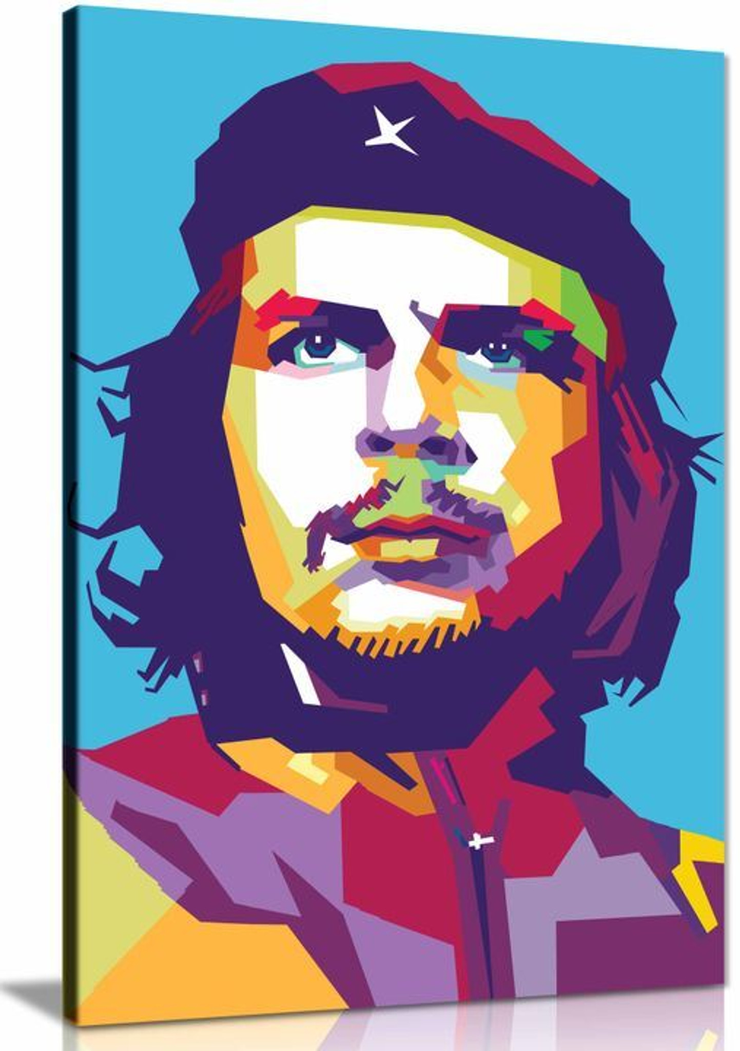 Che Guevara Abstract Colourful Canvas Wall Art Picture Print Home Decor